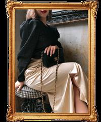 【pour Mademoiselle】バイカラードッキングワンピース ブラック