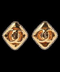 【CHANEL】1994年製 ダイヤココマークイヤリング