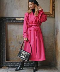 【YVE SAINT LAURENT】トレンチコート ピンク