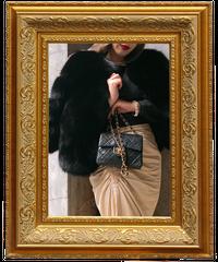 【pour Mademoiselle】フォックスファーコート ブラック