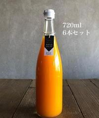 夢農園 [初しぼりみかんストレート果汁]720ml  ( 6本セット・直送)