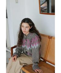 【11月上旬 通常販売】nordichandknit cardigan(gray)