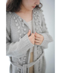 【10/30 20:00-release】seed handknit gown(gray)