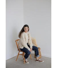 【11月上旬 通常販売】cable handknit cardigan(ivory)