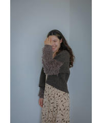 【10/30 20:00-release】loop handknit cardigan(brown)
