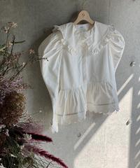 【即納】(original)シャーリングブラウス ホワイト