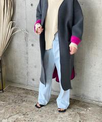 (original) neo coat(チャコール×ピンク)