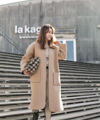 【2月上旬発送】(original) neo coat (ベージュ×ブラック)