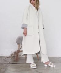 即納(original)neo coat(ホワイト×ライトグレー)