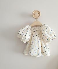 (select)KIDS blue heart blouse