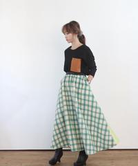 (original)バイカラーフレアスカート