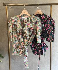 即納(original)flower blouse