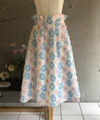 即納(original)flower skirt   サックスピンク