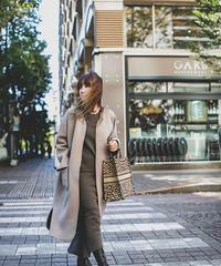 (original) neo coat (モカベージュ×ブラック)