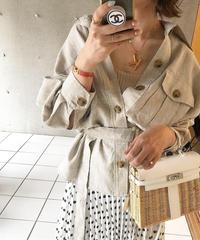 (original)linen シャツジャケット