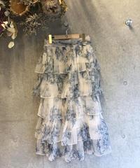 (select)シフォンティアードスカート