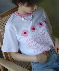 (select)フラワープリント Tシャツ