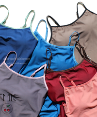 [S M K] ECONYL® THIN STRAPS LEOTARD with Bra pad + New Colours!