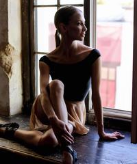"[Ballet Maniacs] Leotard Papillion ""MP-Black"""