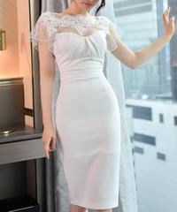 シアーショルダータイトドレス
