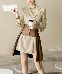 ジャケットワンピース+コルセットスカート H02497