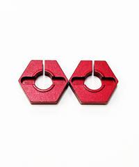 【TP-41R】アルミ薄型クリップ六角ハブ(3mm)レッド