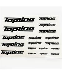 【TP-105】TOPLINEオリジナル切り文字ステッカー typeA マットブラック