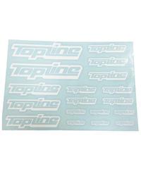 【TP-104】TOPLINEオリジナル切り文字ステッカー typeA マットホワイト (中抜き)