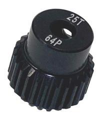 【IP-6423B】7075ハードコートピニオンギヤ ブラック 64ピッチ 23T