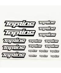 【TP-106】TOPLINEオリジナル切り文字ステッカー typeA マットブラック (中抜き)