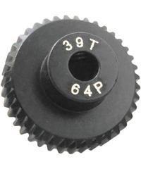 【IP-6439B】7075 ハードコートピニオンギヤ ブラック 64ピッチ 39T