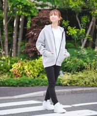 【UNISEX】Raglan Zip Hooded Sweatshirt T/GRY 19S-104