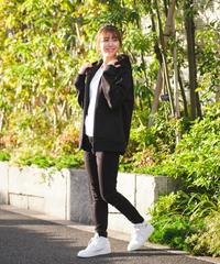 【UNISEX】Raglan Zip Hooded Sweatshirt BLK 19S-104