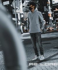 Pullover Side Zip Hooded Sweatshirt T/GRY 19S-103