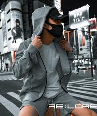 Raglan Zip Hooded Sweatshirt  Heather Gray  19S-104
