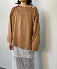 【&her】Basque shirts/CAMEL