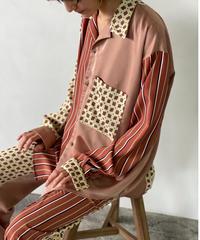 【&her】Pattern Shirts/BROWN