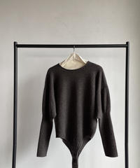【&her】Knit Bodysuit/BROWN