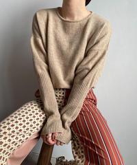 【&her】Knit Bodysuit/BEIGE