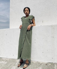 【&her】Fringe  Dress/Khaki