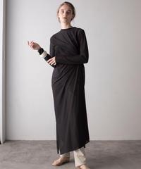 【&her】Sheer Drepe Onepiece/BLACK