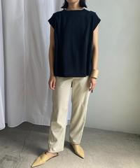【&her】Cottonlinen Knit Vest/NAVY