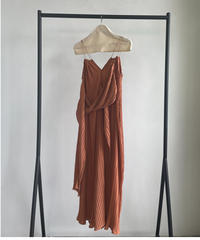 【&her】Pleats Strap Dress/ORANGE