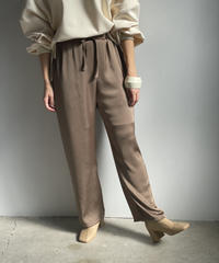 【&her】 Satin Pants/BROWN