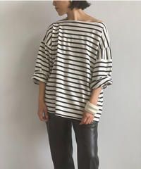 【&her】Basque shirts/BLACK