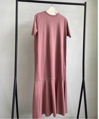 【&her】Mermaid Tee Dress/ SMOKYPINK