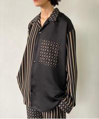 【&her】Pattern Shirts/BLACK