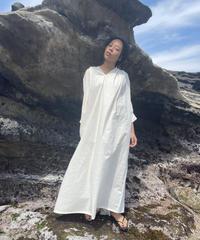 【&her】Gather Kaftan Dress/IVORY