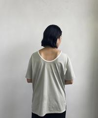 【&her】Ringer Tshirt /GRAYISHBLUE