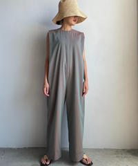 【&her】Voil Chambray All in one/BROWN